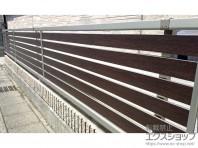 直線ラインが美しい 横格子デザインフェンス