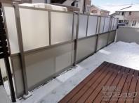 防音フェンス すやや R型採光パネル+R3型吸音パネル 2段支柱