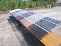 屋根材の比較実験の様子(カーポート・テラスの屋根材「実力値」計測実験)