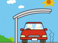 特に暑い真夏にはカーポートが温度上昇を抑えます