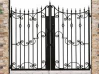 鋳物門扉 アルミ鋳物ならではの味わい深い質感を表現した門扉