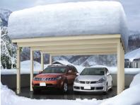 積雪性能でカーポート選ぶなら、ジーポートneo 最高200cmまで積雪対応