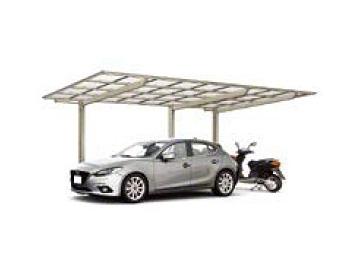 カーポート(工事費込) LIXIL フーゴF (フラットスタイル) 延長(車庫 ガレージ 車用の屋根)