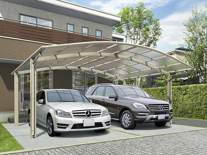 カーポート(工事費込) YKKAP レイナツインポートグラン(2台用 車庫 ガレージ 車用の屋根)