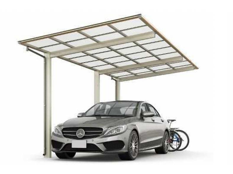 カーポート(工事費込) YKKAP エフルージュZ FIRST 延長 マテリアルカラー(1台用 車庫 ガレージ 車用の屋根)