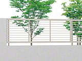 プレスタフェンス 1型 細横桟