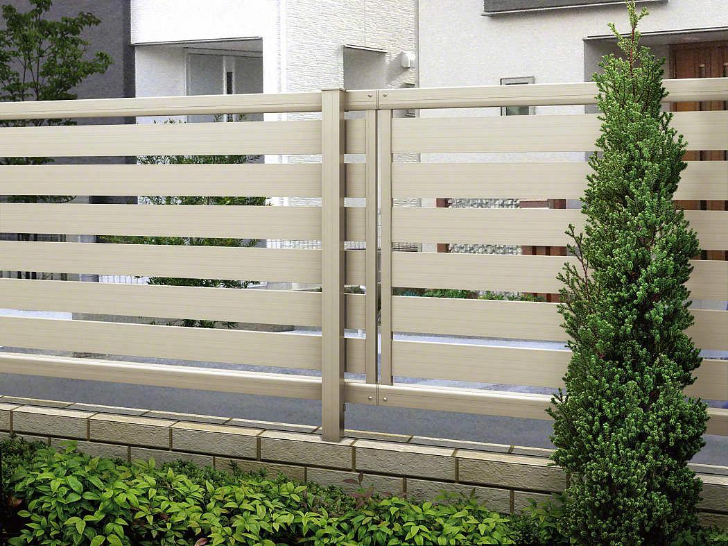 ルシアスフェンスF04型 横板 木目カラー