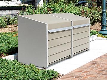 のゴミステーション ダストボックスミニ連結 パネル床タイプ DBN-106PL-2 400L×2