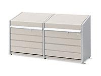 ダストボックスミニ連結 メッシュ床タイプ DBN-126ML-2 500L×2