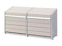ダストボックスミニ連結 メッシュ床タイプ DBN-1012M 400L+500L