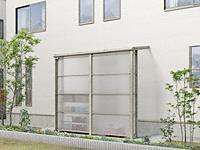 スピーネストックヤードF型 積雪50cm対応 波板タイプ 袖壁仕様