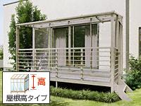 サニージュF型 ハーフ囲い 屋根高タイプ 積雪20cm対応