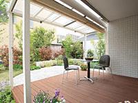 天然木タンモクウッドデッキセット 塗装済み床板