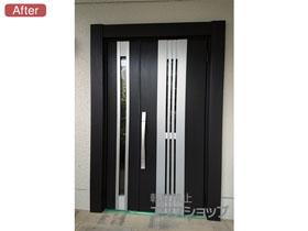 の玄関ドア リシェント玄関ドア3 断熱K4仕様 親子仕様(ランマ無し)R M84型 施工例
