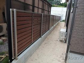 のフェンス・柵 モクハイフェンス フリーポールタイプ 施工例