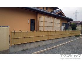 のフェンス・柵 紗更 ささら 建仁寺垣 ブロック施工タイプ(間仕切り支柱タイプ) 施工例