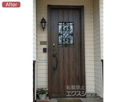 の玄関ドア リシェント玄関ドア3 断熱K4仕様 片開き仕様(ランマ無)R D41型 ※タッチキー仕様(リモコンタイプ) 幅=877mm 施工例