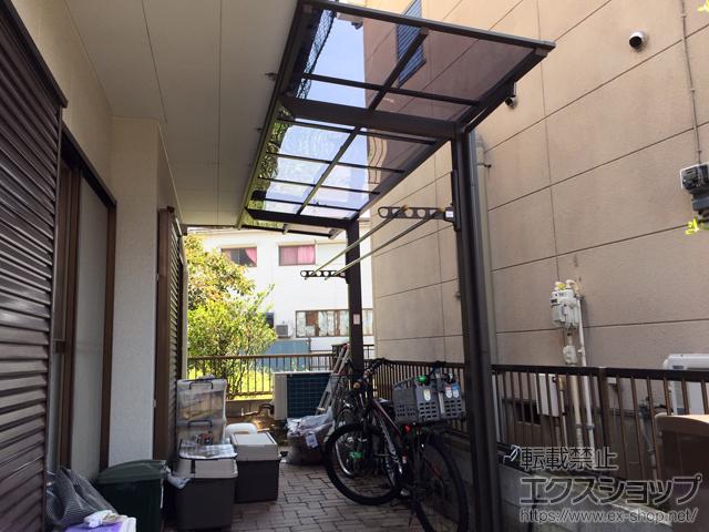 埼玉県蕨市ののサイクルポート・駐輪場 ネスカFミニ (フラットスタイル) 積雪〜20cm対応 施工例